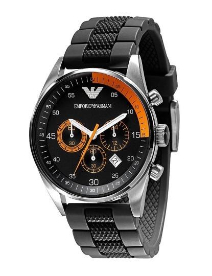 8cb96f3d2ca Relógio Emporio Armani Homem Preto e Laranja