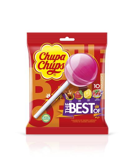 Chupa Chups Bolsa com 10 chupas de 12g