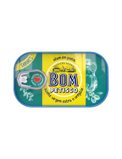 Bom Petisco Atum Posta Azeite Virgem Extra e Oregãos 120 g