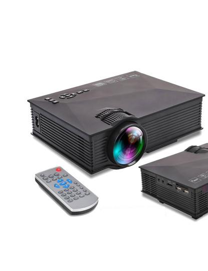 Mini Vídeo Projector Led até 130 polegadas e 1200 Lúmens! Incluí WIFI e DLNA!