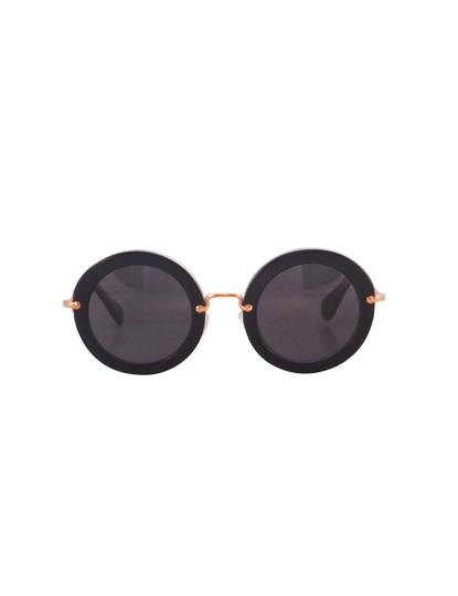 50140b9fe3601 Óculos de Sol Miu Miu Preto e Dourado