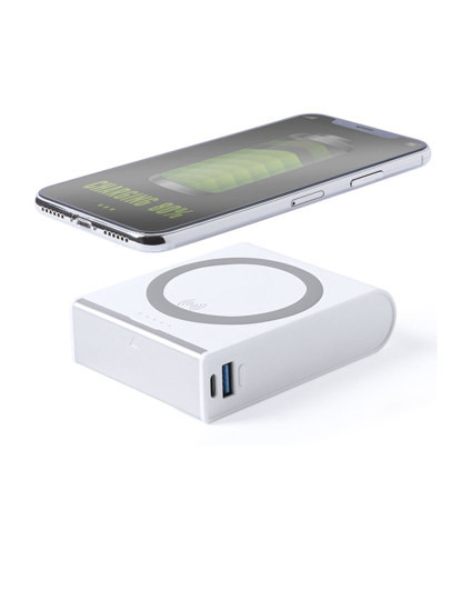 Powerbank 8000 mAh Wireless com fast-charge