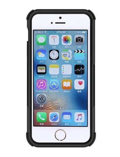 Capa Rugged The Mountain (à prova de choque) para iPhone5/5S - Preto