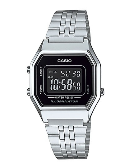 b4f602a02ae Relógio Casio Retro Vintage Quadrado Prateado