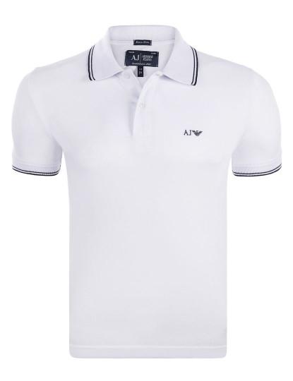 Pólo Armani Jeans Muscle Fit Branco 160f15291938e