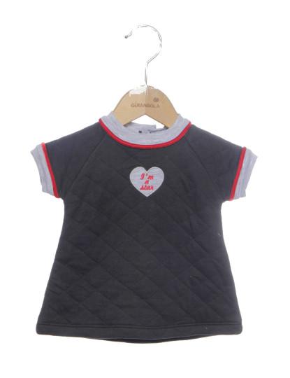 Blusa Infantil Bebê Cinza Estrela Rosa