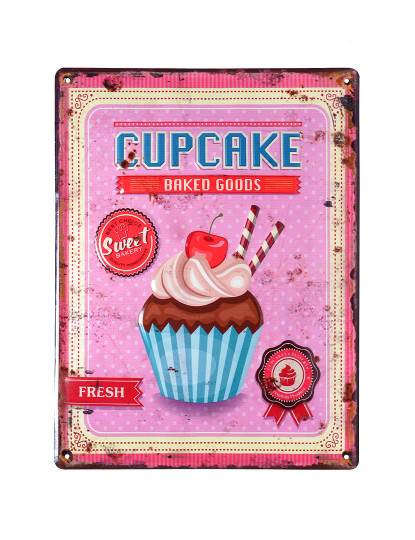 Placa Metálica Cupcake