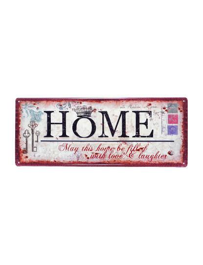 Placa Metálica Home