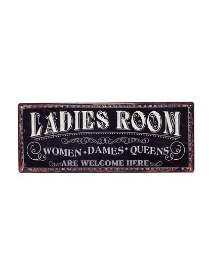 Placa Metálica Ladies Room