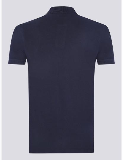 Pólo M. Curta Ralph Lauren Homem Azul Navy/Branco