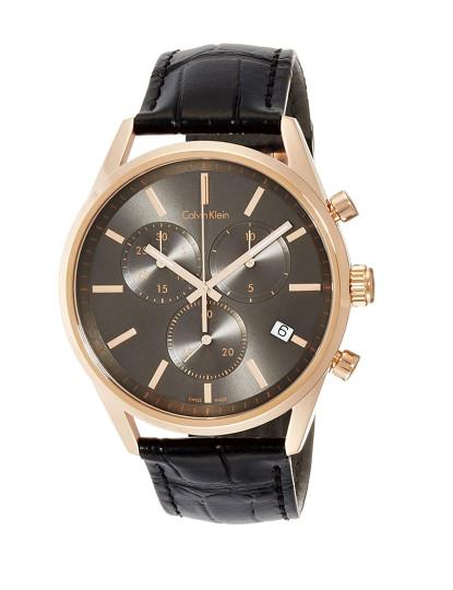 4be8ddf0605 Relógio Calvin Klein Homem Preto e Rosa Dourado