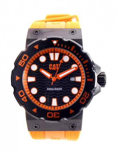 a9250cd2326 Relógio Caterpillar Laranja e Preto