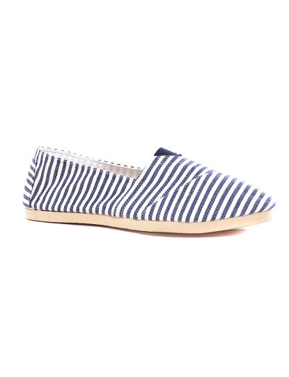 Alpargata senhora azul e branco