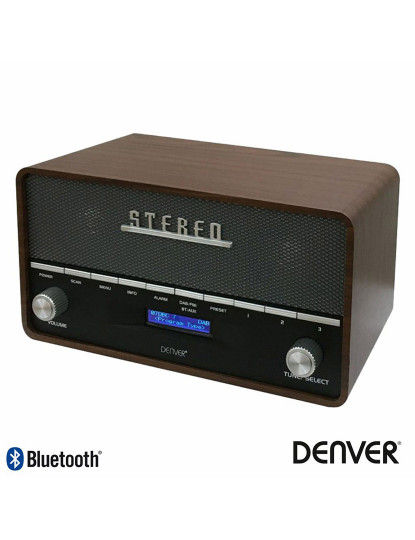 Rádio Portátil Retro Denver - FM com Bluetooth