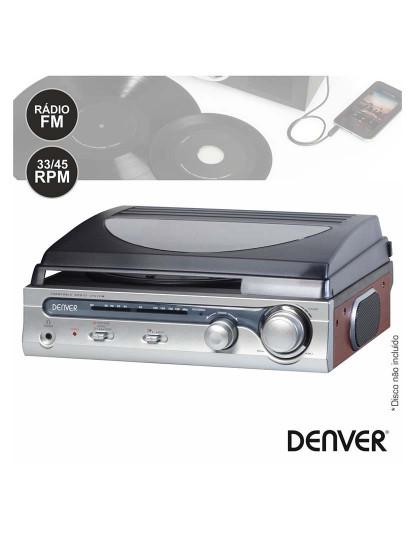 Gira Discos Vintage Denver co Colunas