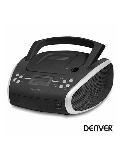 Rádio portátil FM Denver com leitor MP3 CD