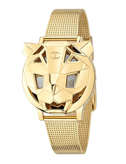 5f844aa5f8b4f Relógio Just Cavalli Just Tiger Dourado