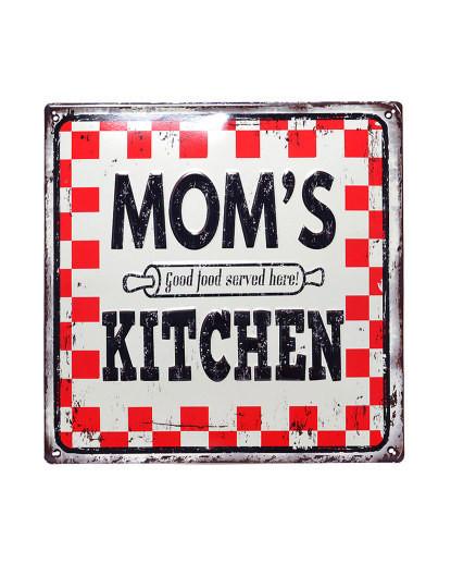 Placa Metálica Mom's Kitchen