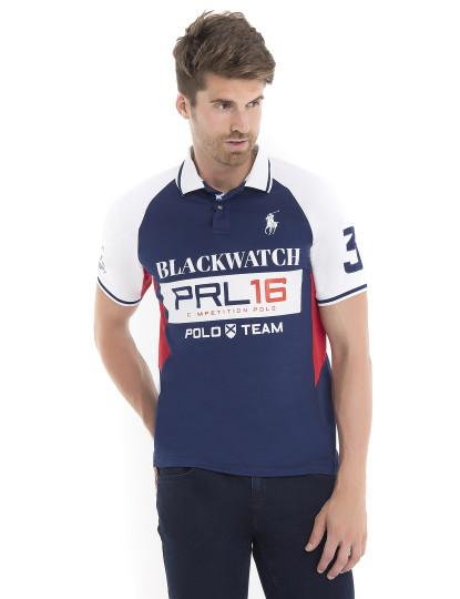 c61f98a396 Pólo Ralph Lauren Blackwatch Azul Navy e Branco Homem , até 2019-01-06