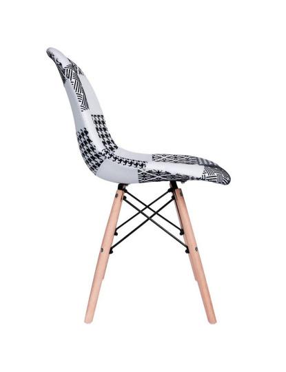 Cadeira Nera Patchwork Branco & Preto