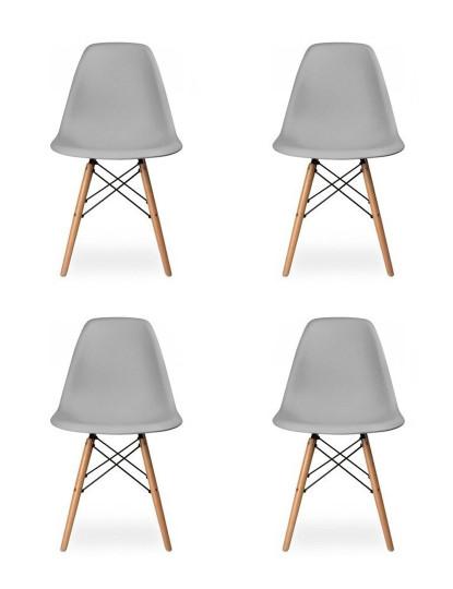 Pack 4 Cadeiras Tower Cinza