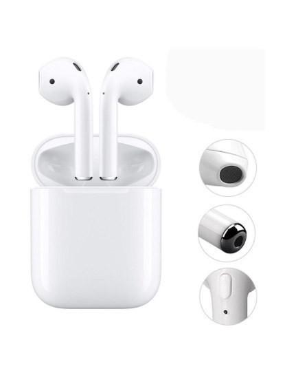 Auscultadores EarPods Bluetooth com Dock Station para Carregamento