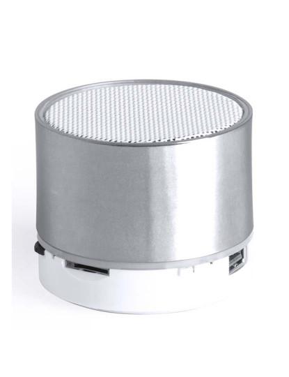 Coluna Bluetooth + LED Cinzento