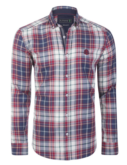 Camisa Sir Raymond Taylor Ball Bordeaux/Azul Navy