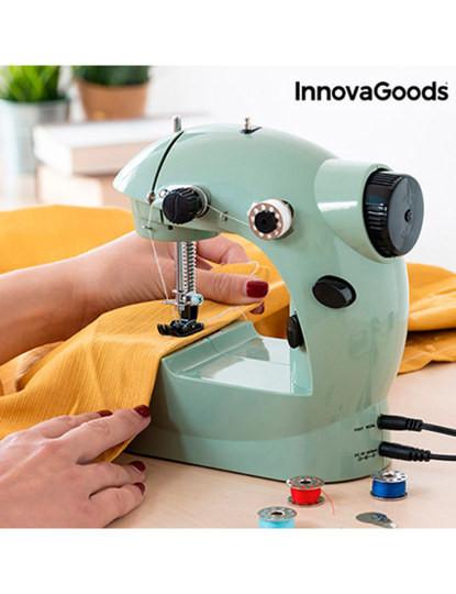 Máquina de Costura Mini InnovaGoods 6 V 800 mA Verde