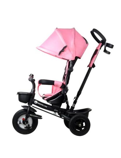 Triciclo Pedagógico 4 em 1 Stroller by Kinderline Rosa