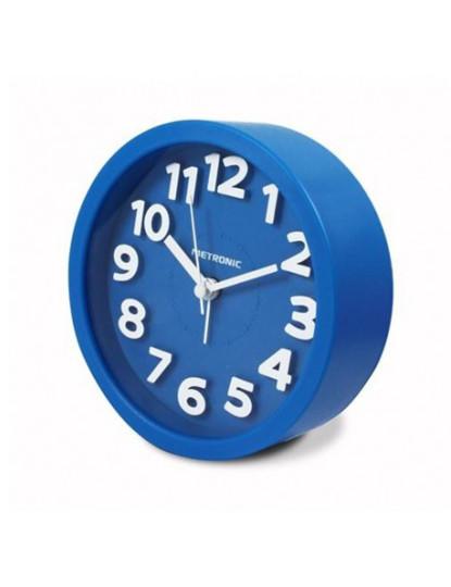 Despertador Analogico Classico Azul