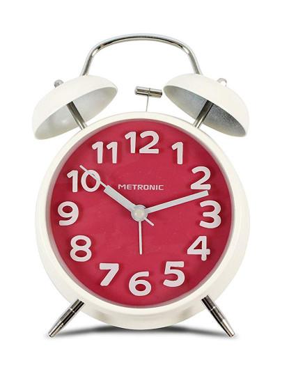 Despertador Analogico Vintage Vermelho