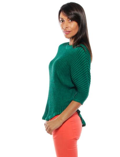 Camisola Decote Redondo Casual Throttleman Verde