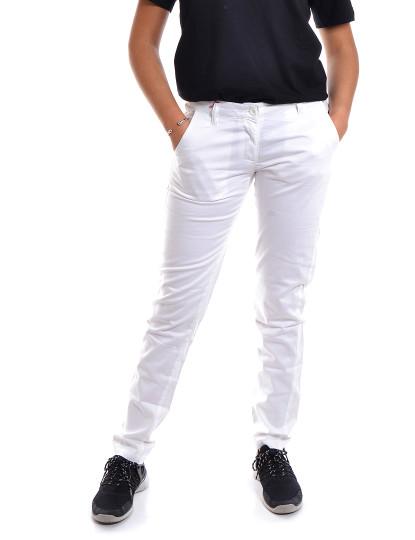 Calças Sem Pregas Casual Throttleman Branco