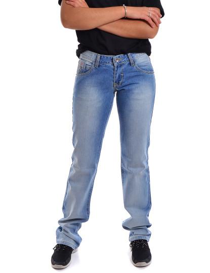 Calças Straight Fit Jeans Throttleman Azul
