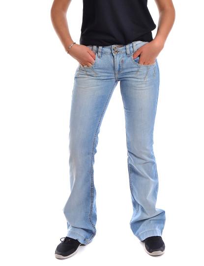 Calças Boot Fit Jeans Throttleman Azul Claro