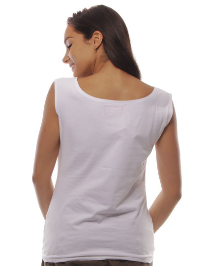 T-Shirt Regular Fit Funny Throttleman Branco
