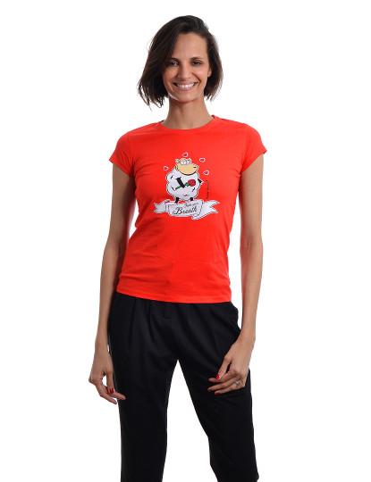 T-Shirt Regular Fit Namorados Throttleman Vermelho