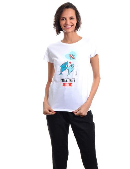 T-Shirt Regular Fit Namorados Throttleman Branco