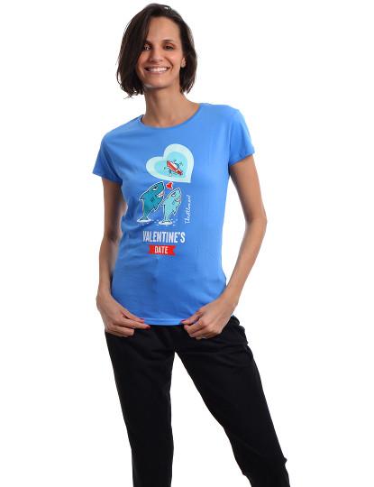 T-Shirt Regular Fit Namorados Throttleman Azul