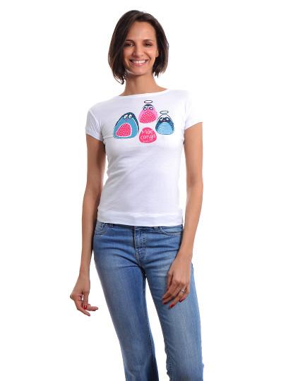 T-Shirt Regular Fit Mãe Throttleman Branco