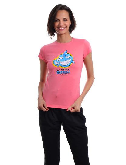 T-Shirt Regular Fit Mãe Throttleman Rosa
