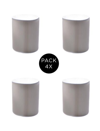 Pack 4 Bancos Desdobrável A38 Branco