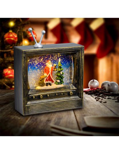 Tv H22Cm Plástico Polido Castanho