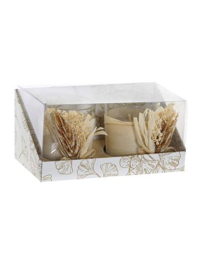 Vela Conjunto  2 Cera Cristal 15,5X7,5X7 1% Perfume Rama