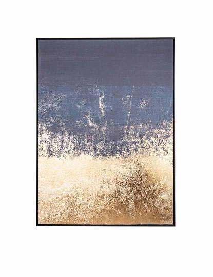 Quadro Abstrato Mar Dourado
