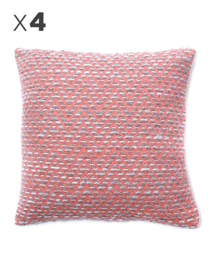 Pack 4 Capas Almofada Mosaico Pink Candy