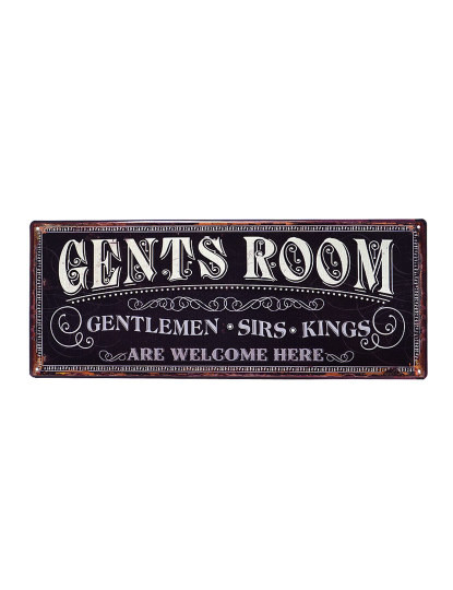Placa Metálica Gents Room