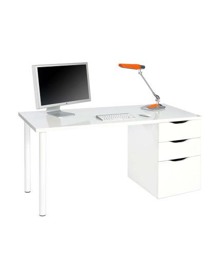 Mesa de Escritório Forés Sansa Reversível Branco