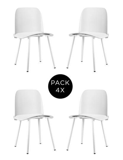 Pack 4 Cadeiras Gum Branca